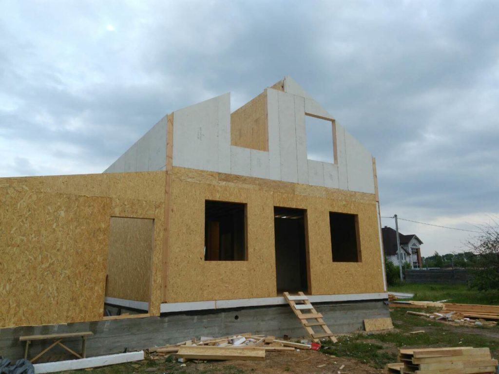 Монтаж дома из сип панелей площадью 191 м.кв - фото 5
