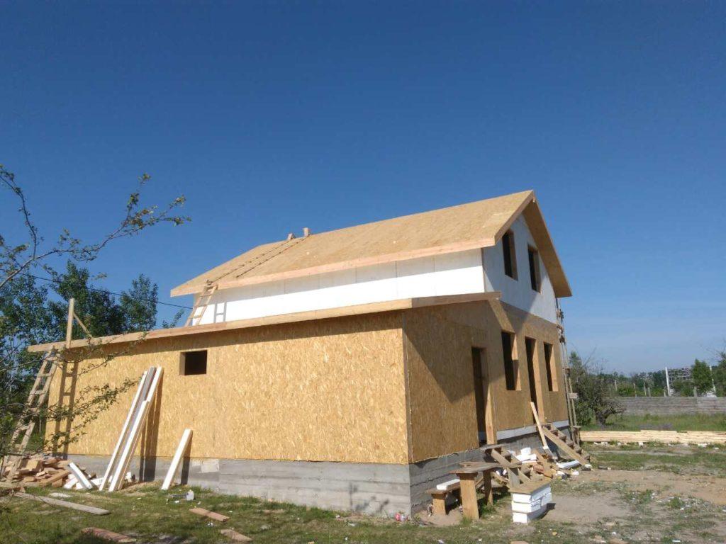 Монтаж дома из сип панелей площадью 191 м.кв - фото 4