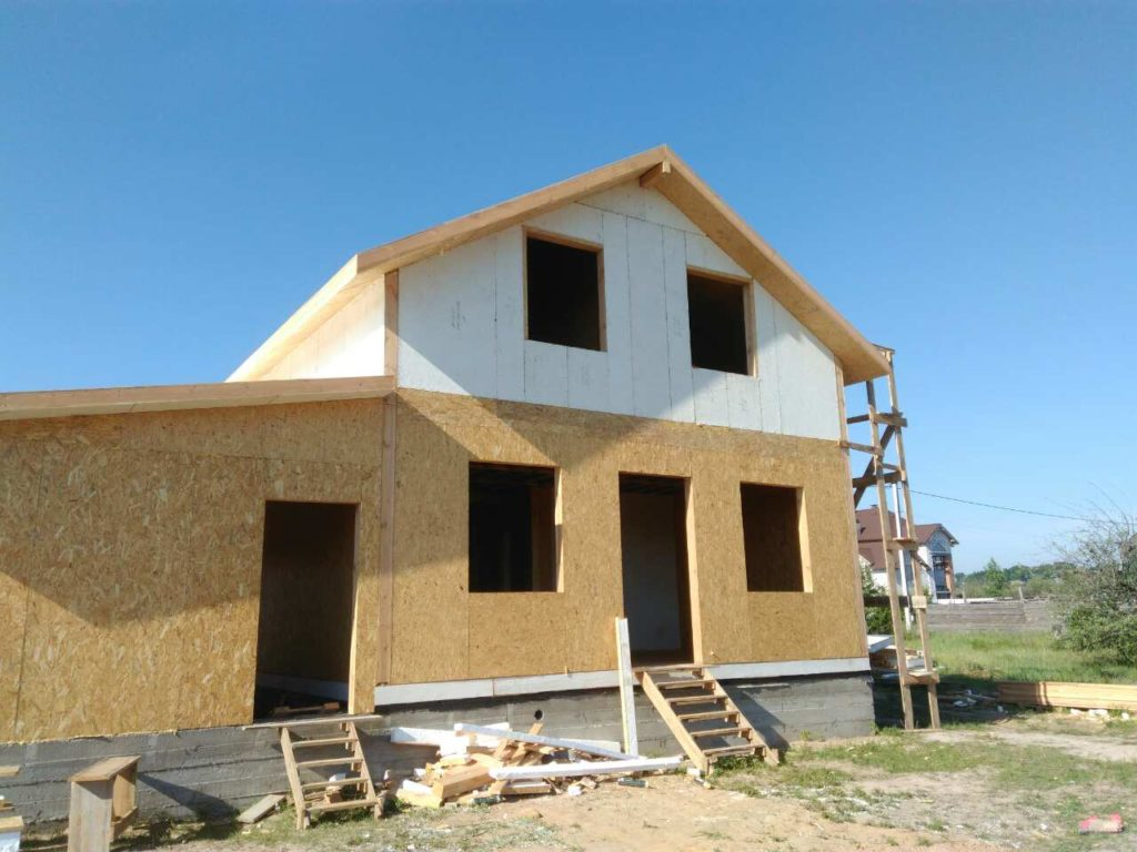 Монтаж дома из сип панелей площадью 191 м.кв - фото 3