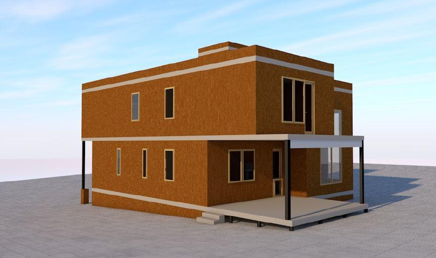 Монтаж дома из сип панелей с зимним садом на крыше - фото 6