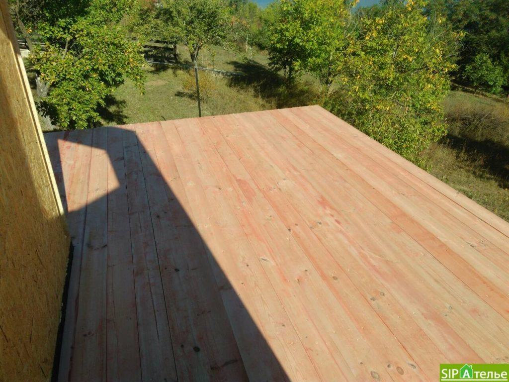 Монтаж домокомплекта двухжтажного дома с террасой из сип панелей - фото 2