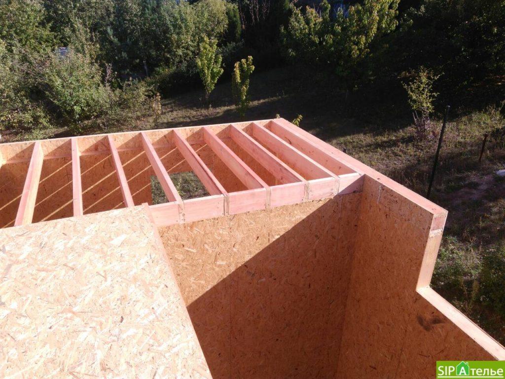 Монтаж домокомплекта двухжтажного дома с террасой из сип панелей - фото 3
