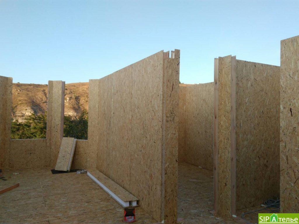 Монтаж домокомплекта двухжтажного дома с террасой из сип панелей - фото 5
