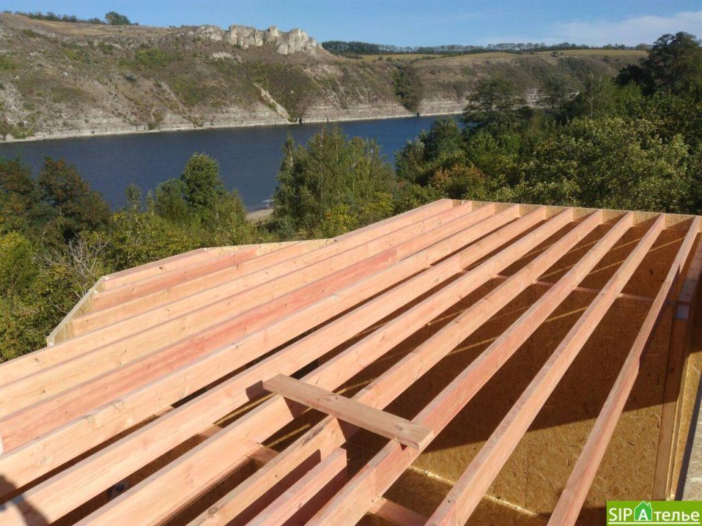 Монтаж домокомплекта двухжтажного дома с террасой из сип панелей - фото 6