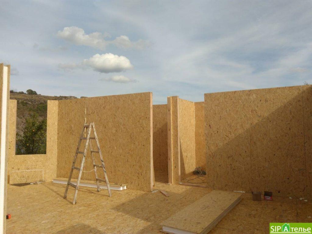 Монтаж домокомплекта двухжтажного дома с террасой из сип панелей - фото 8
