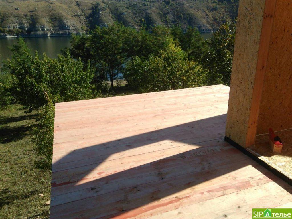 Монтаж домокомплекта двухжтажного дома с террасой из сип панелей - фото 9