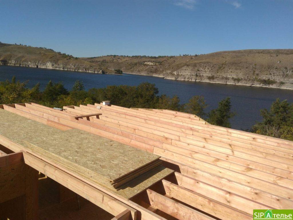 Монтаж домокомплекта двухжтажного дома с террасой из сип панелей - фото 11