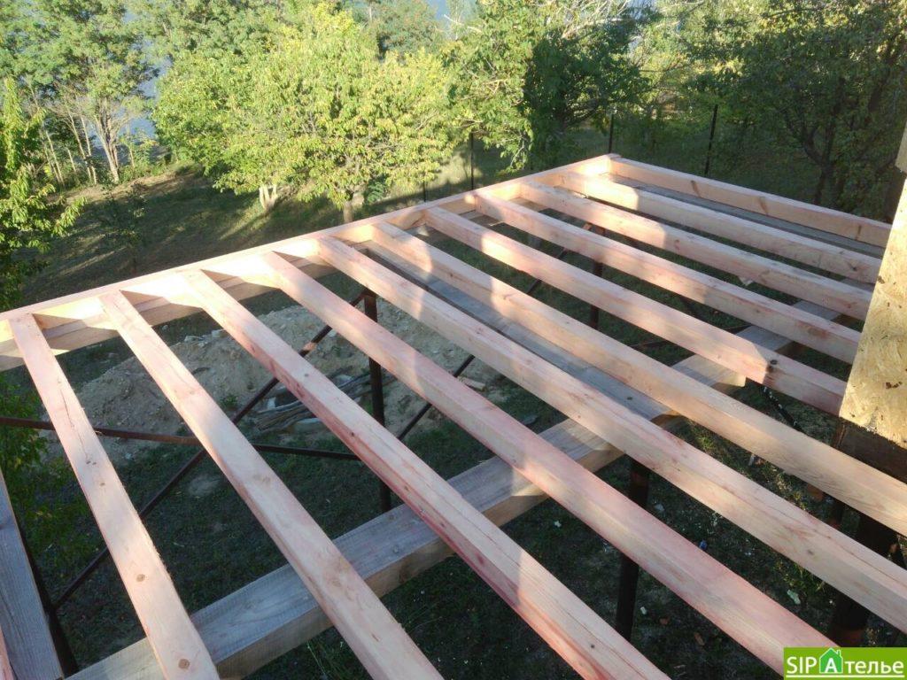 Монтаж домокомплекта двухжтажного дома с террасой из сип панелей - фото 14