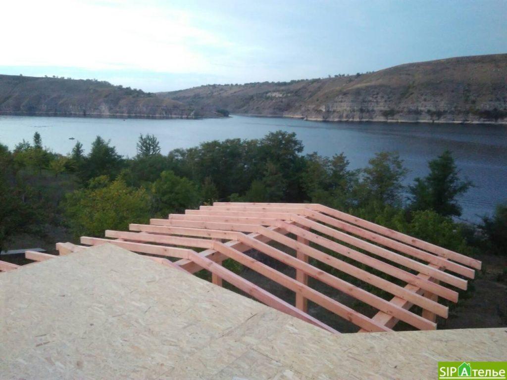 Монтаж домокомплекта двухжтажного дома с террасой из сип панелей - фото 12