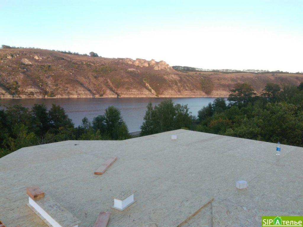 Монтаж домокомплекта двухжтажного дома с террасой из сип панелей - фото 20