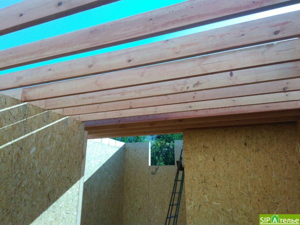 Монтаж домокомплекта двухжтажного дома с террасой из сип панелей - фото 1