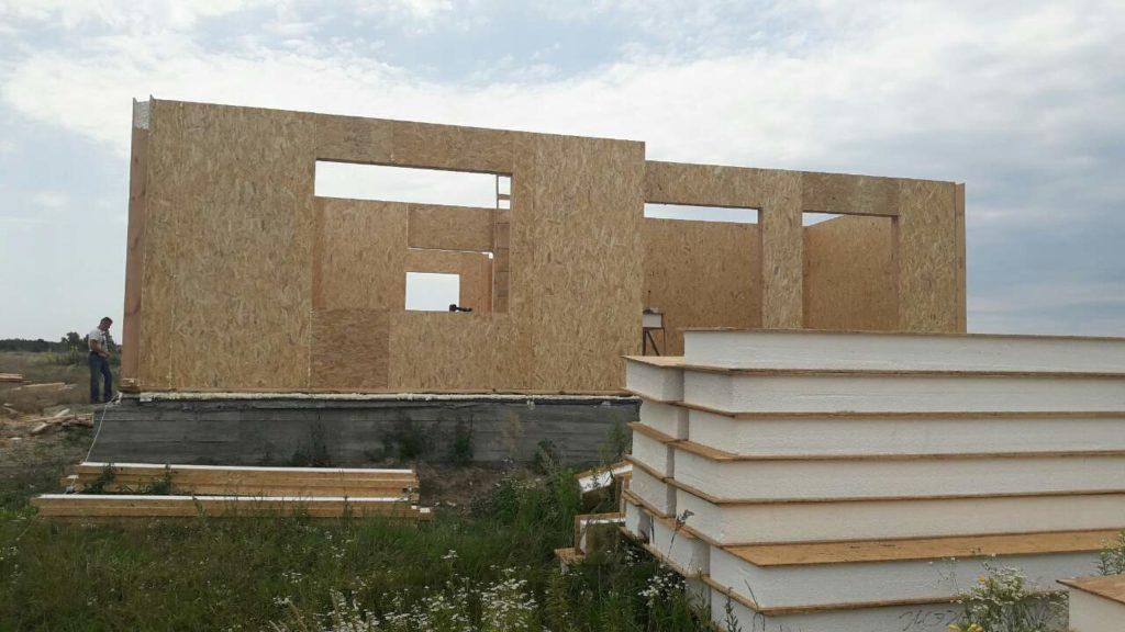 Монтаж двухэтажного дома из сип панелей 187 м.кв в селе Бабинцы - фото 2