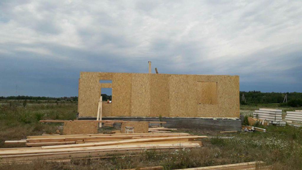 Монтаж двухэтажного дома из сип панелей 187 м.кв в селе Бабинцы - фото 1