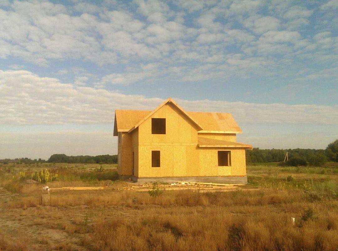 Двухэтажный дом из сип панелей 187 м.кв в селе Бабинцы - фото 1