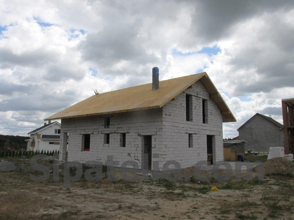 Монтаж крыши из СИП/SIP панелей на доме из газобетона - фото 11
