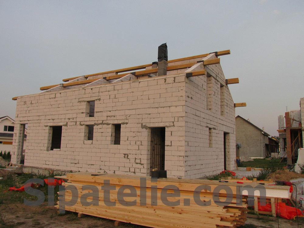 Монтаж крыши из СИП/SIP панелей на доме из газобетона - фото 7