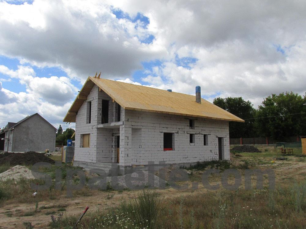 Монтаж крыши из СИП/SIP панелей на доме из газобетона - фото 2