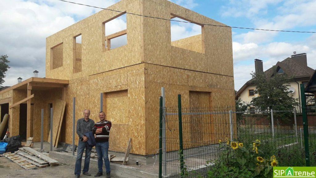 Монтаж частного дома из сип панелей площадью 187 м2 - фото 4