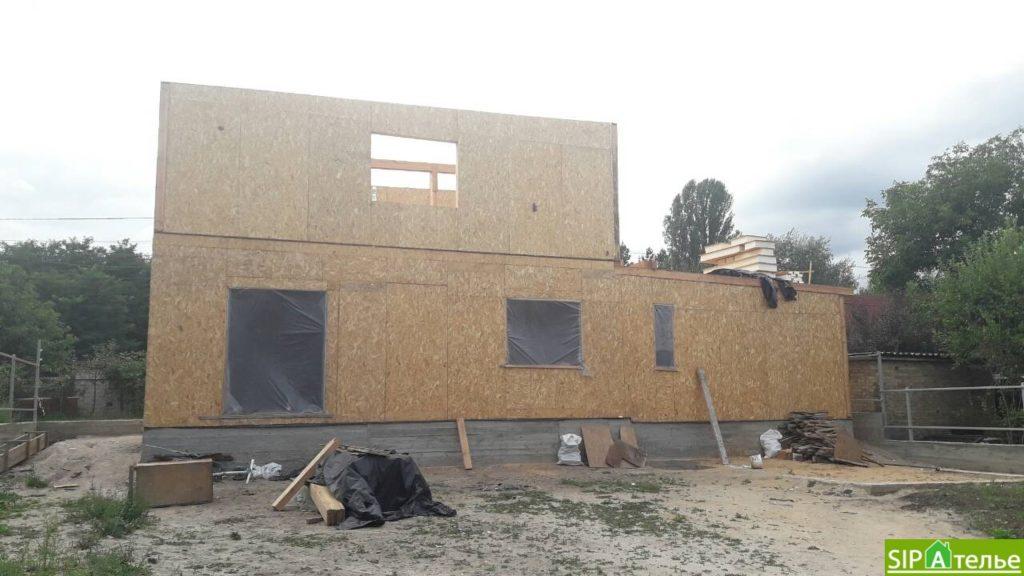 Монтаж частного дома из сип панелей площадью 187 м2 - фото 3