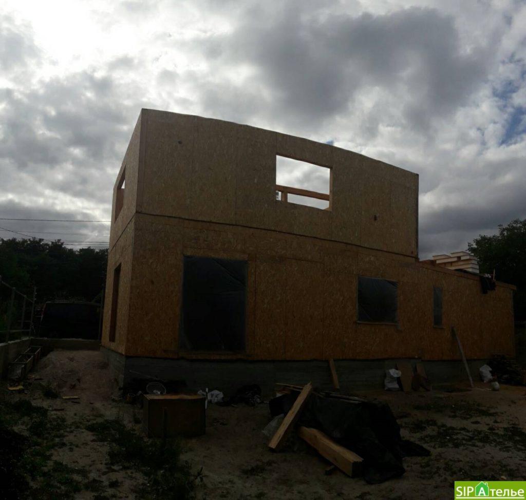 Монтаж частного дома из сип панелей площадью 187 м2 - фото 2