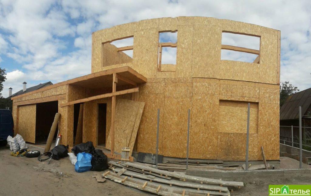 Монтаж частного дома из сип панелей площадью 187 м2 - фото 1