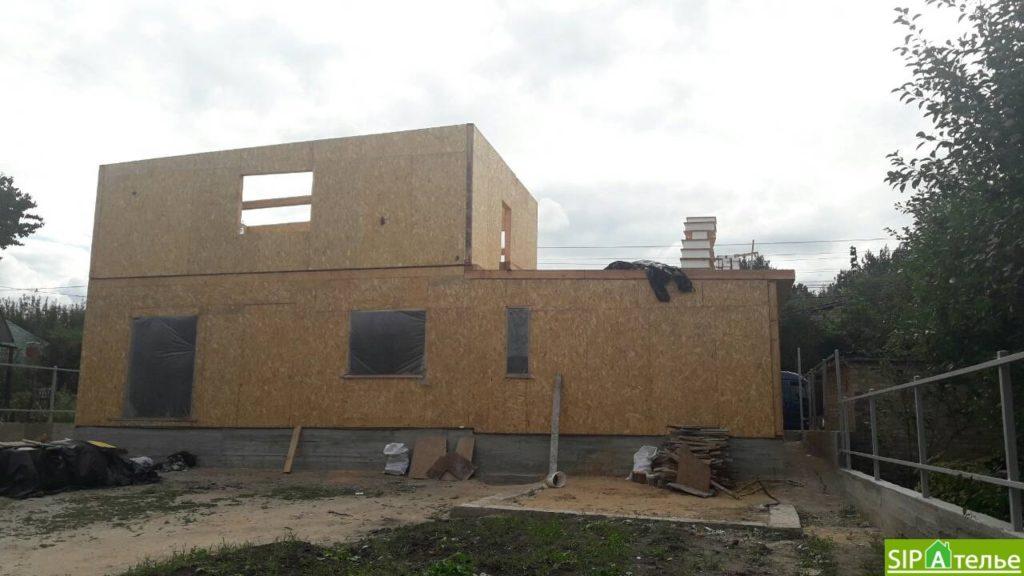 Монтаж частного дома из сип панелей площадью 187 м2 - фото 6