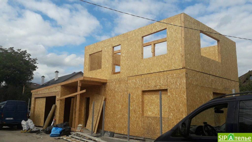 Монтаж частного дома из сип панелей площадью 187 м2 - фото 5