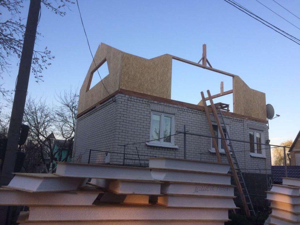 Надстройка из сип панелей к существующему дому с. Золотоноша - фото 5