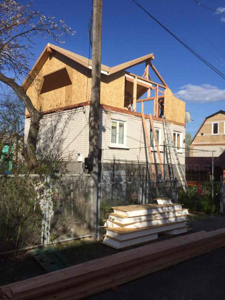 Надстройка из сип панелей к существующему дому с. Золотоноша - фото 7