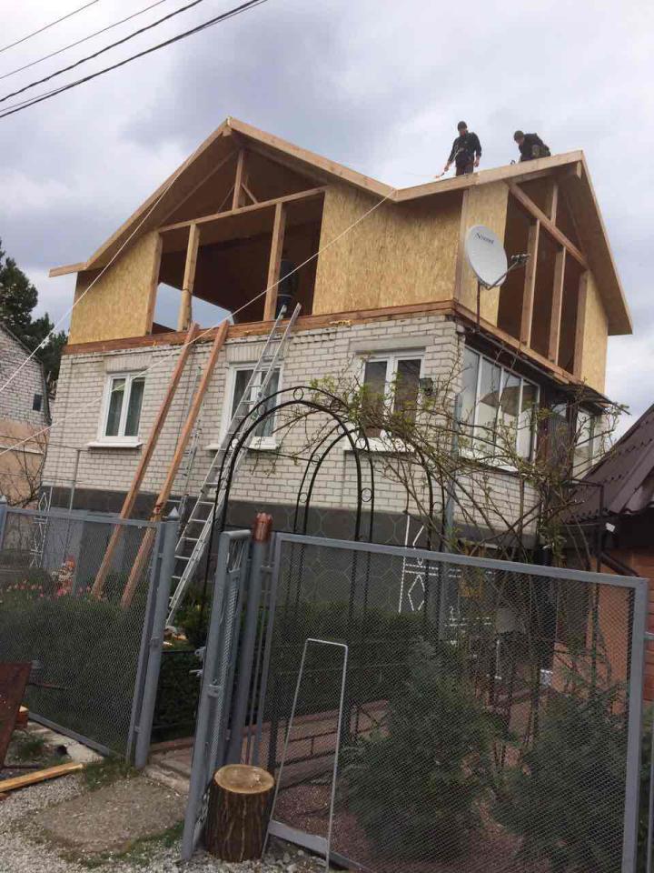 Надстройка из сип панелей к существующему дому с. Золотоноша - фото 8