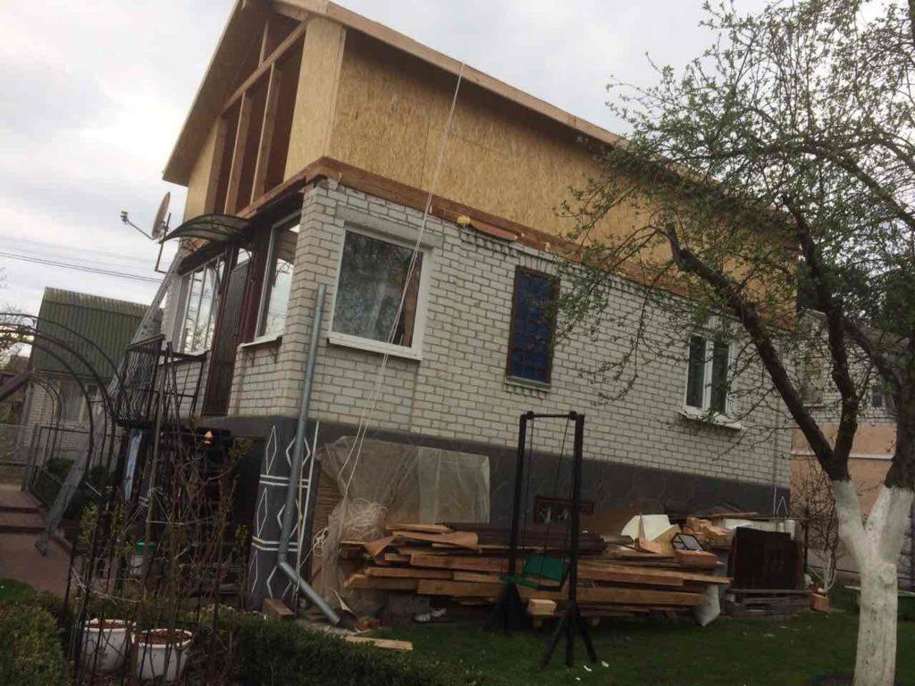 Надстройка из сип панелей к существующему дому с. Золотоноша - фото 9
