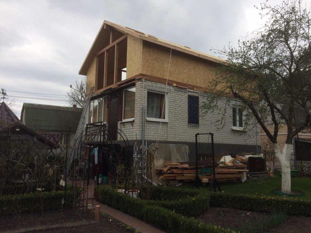 Надстройка из сип панелей к существующему дому с. Золотоноша - фото 11