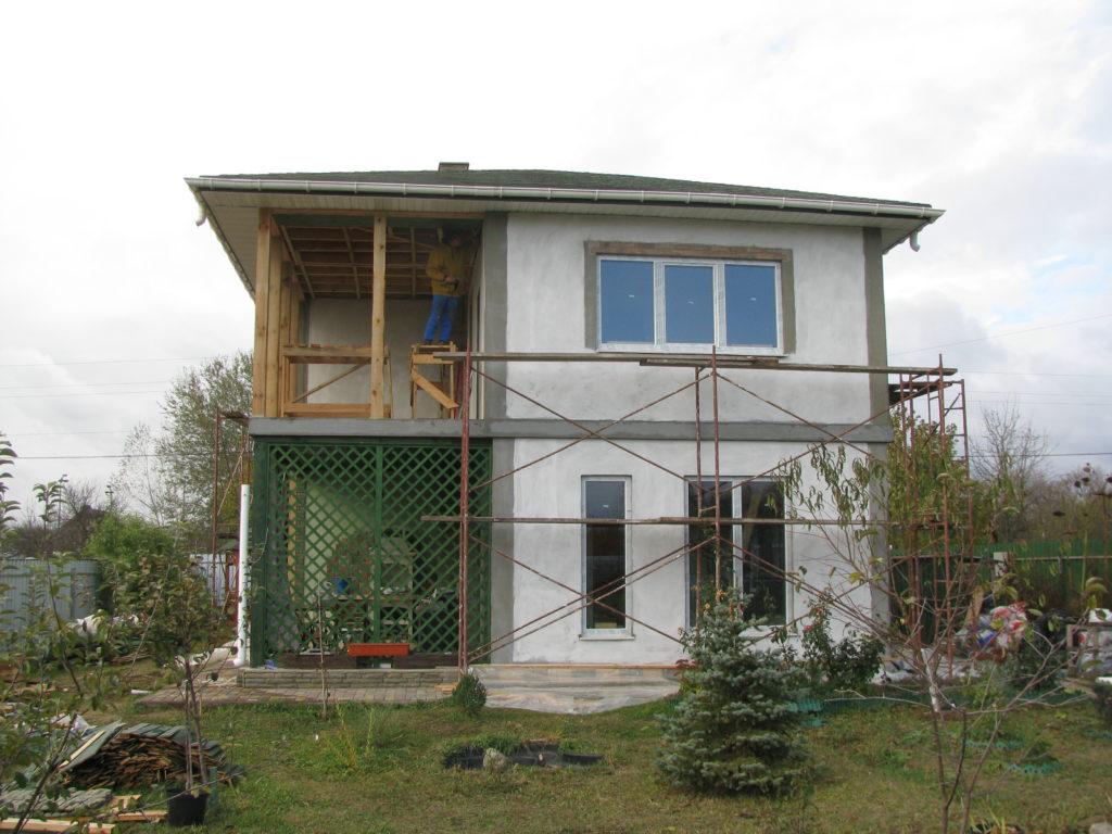 Надстройка на дом из сип панелей в селе Петровское - фото 1