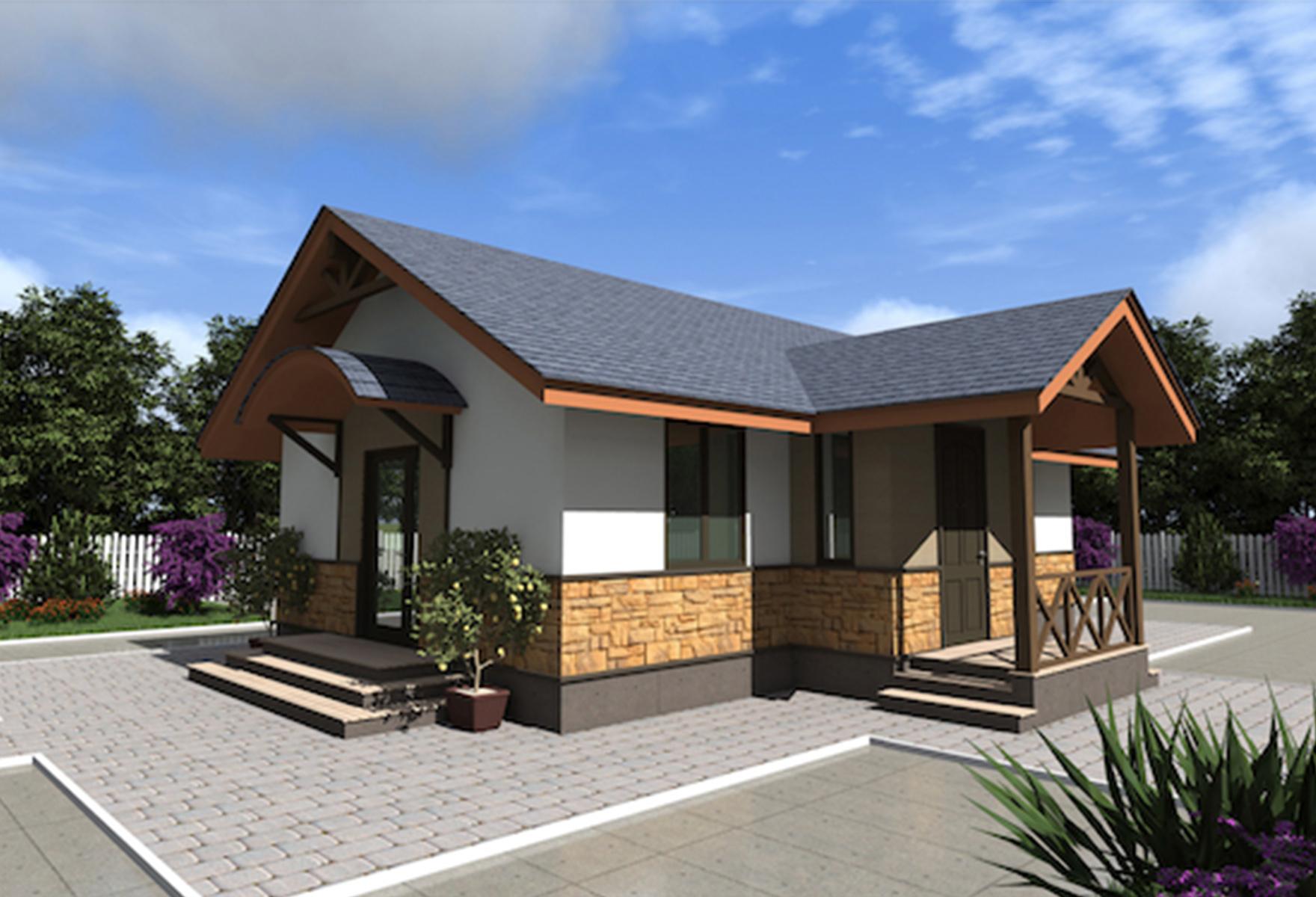 Одноэтажный дом из сип панелей «Топаз» 71,75