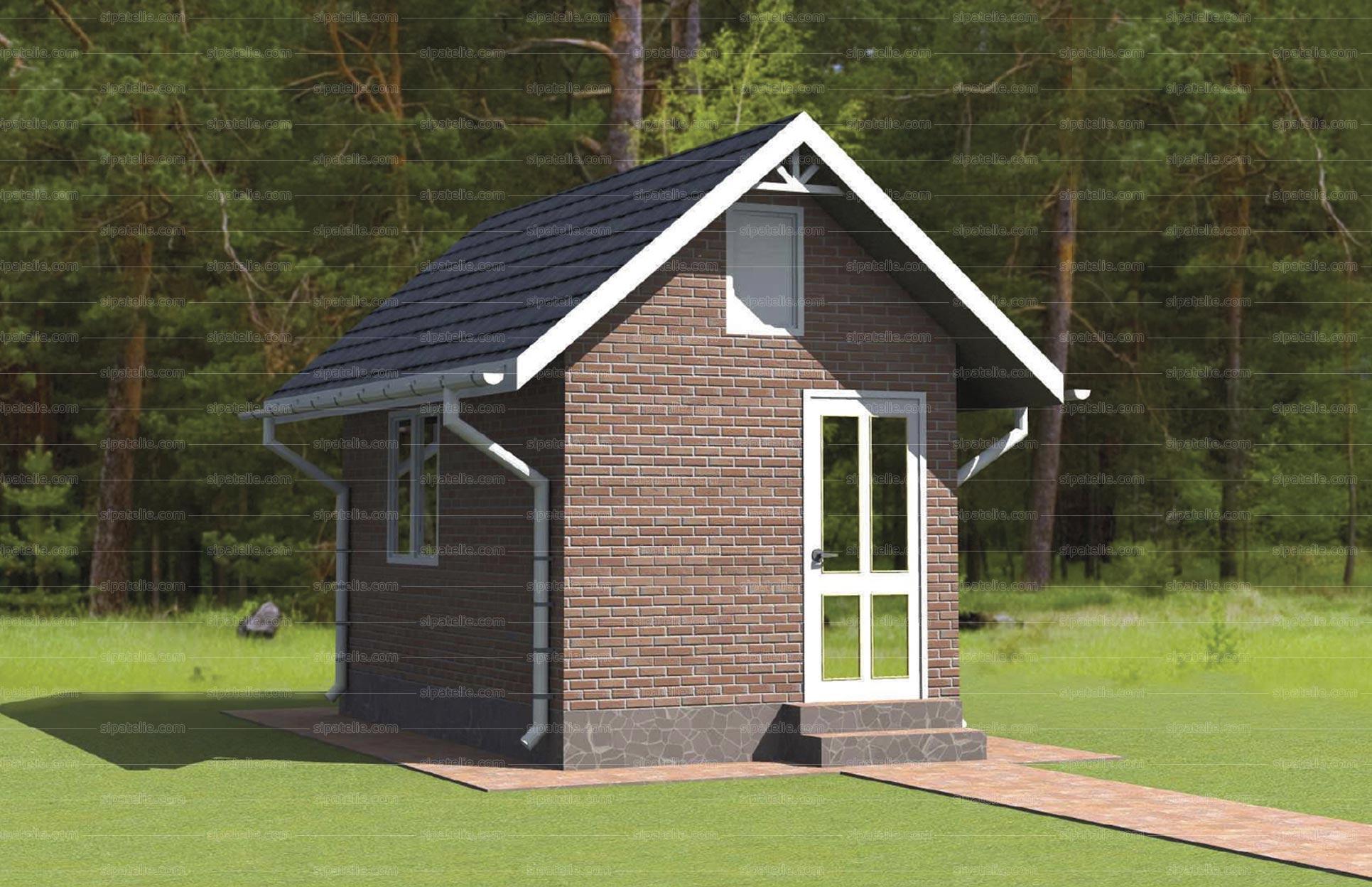 Одноэтажный дом из сип панелей Вуд