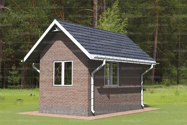 Одноэтажный дом из сип панелей Вуд - 15 М2