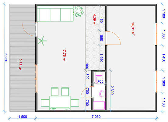 План передвижного дома-трансформера