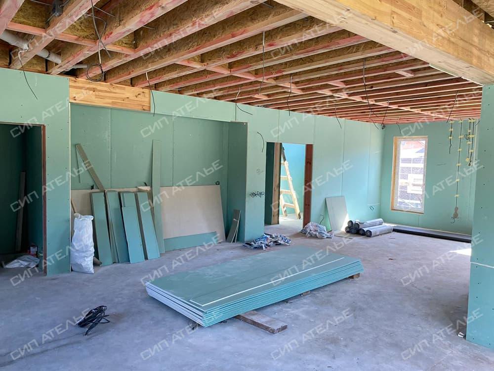 Обшивка гипсокартоном домов из СИП панелей