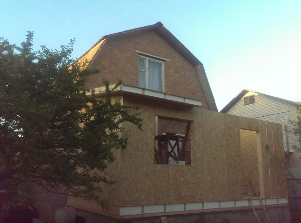 Пристройка из сип панелей с. Васильков площадь 15 м. кв. - фото 1
