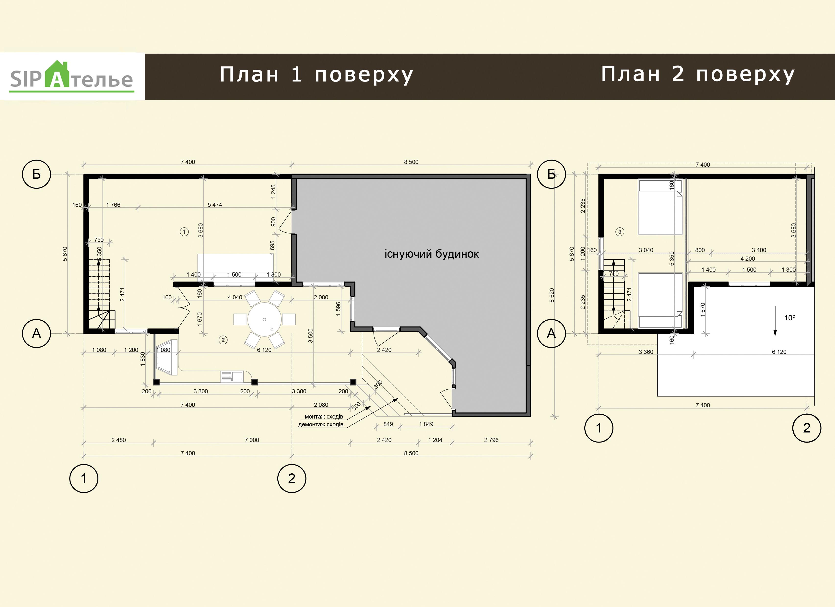 Планировка пристройки для жилого дома из сип панелей 70,42 м2