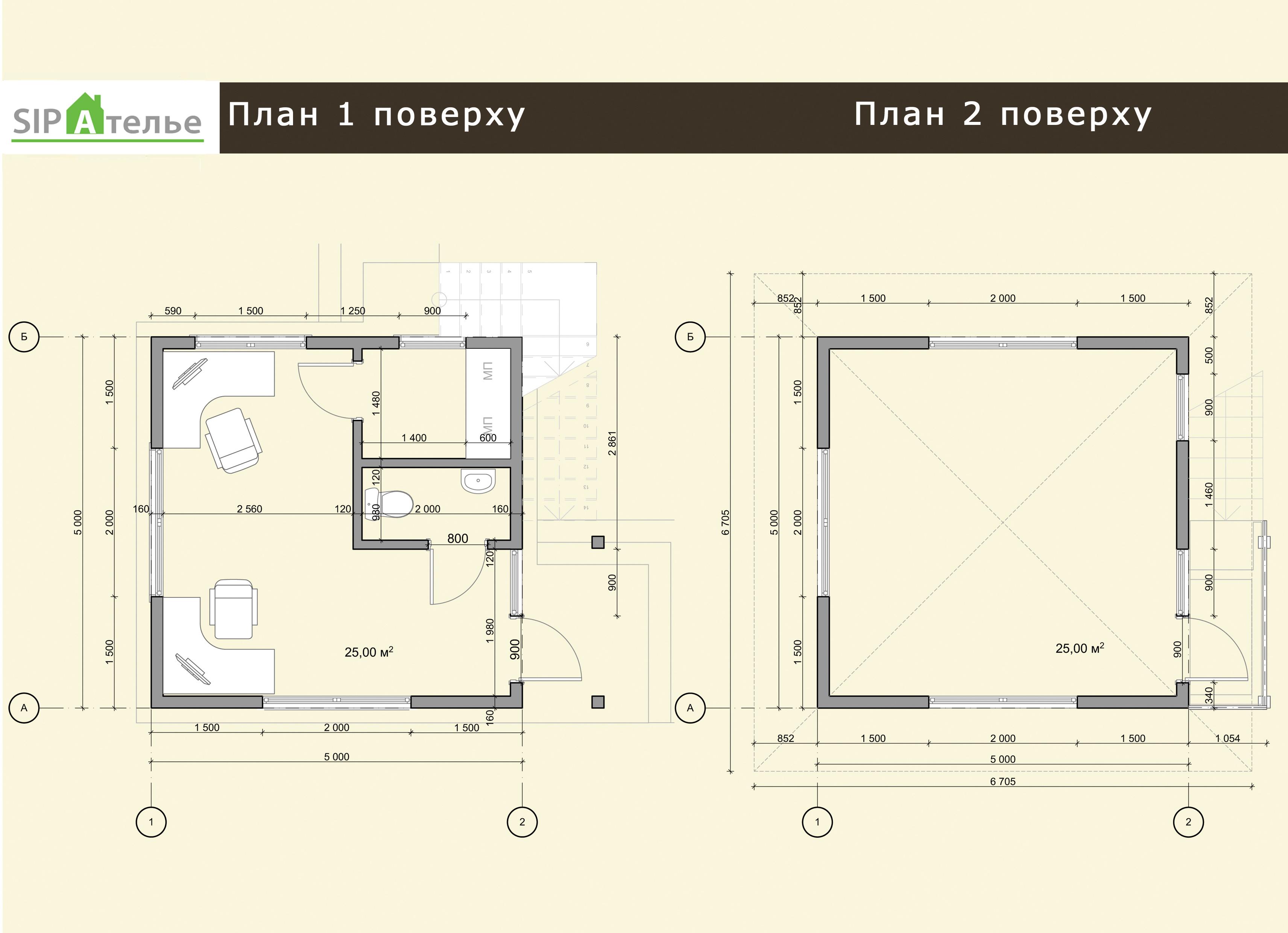 Планировка поста охраны из сип панелей «Вижэн» 50 м2