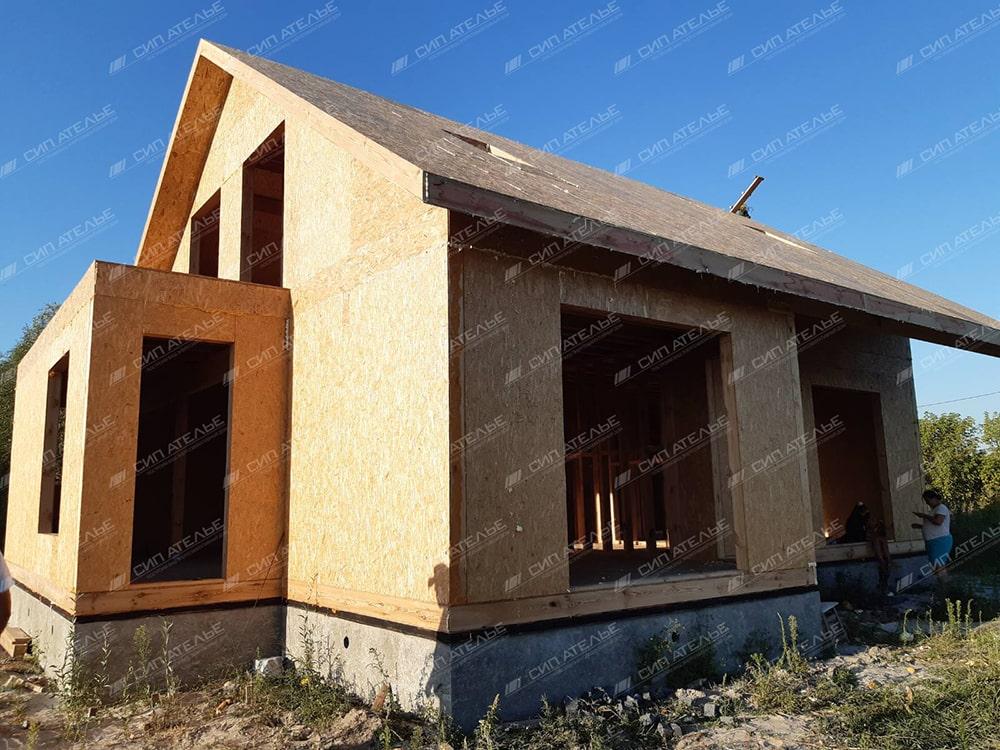 строительство дома в селе Пуховка