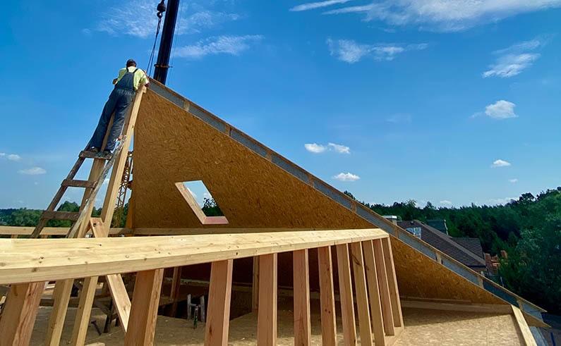 Теплая крыша из СИП панелей