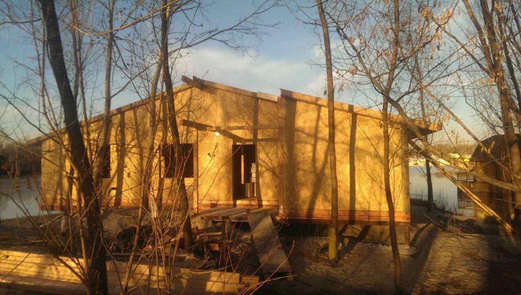 Строительство бани из сип панелей площадью 140 м2 - фото 7