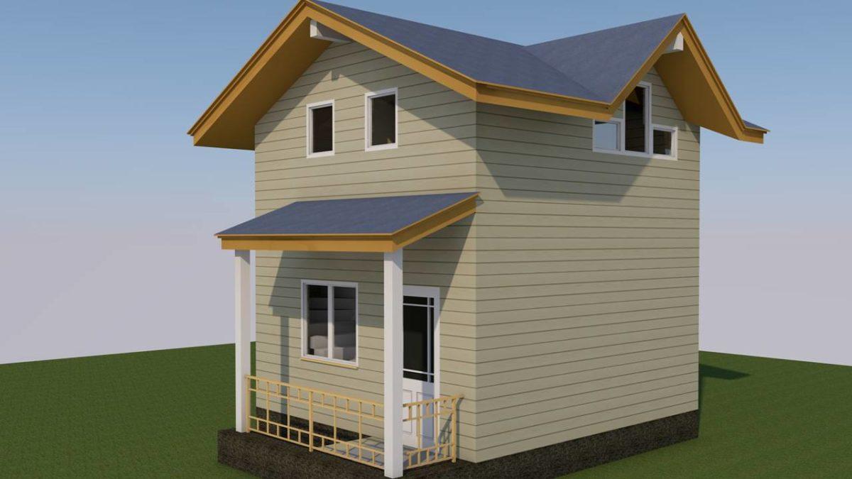 Энергосберегающий дом из СИП панелей в с. Блидча