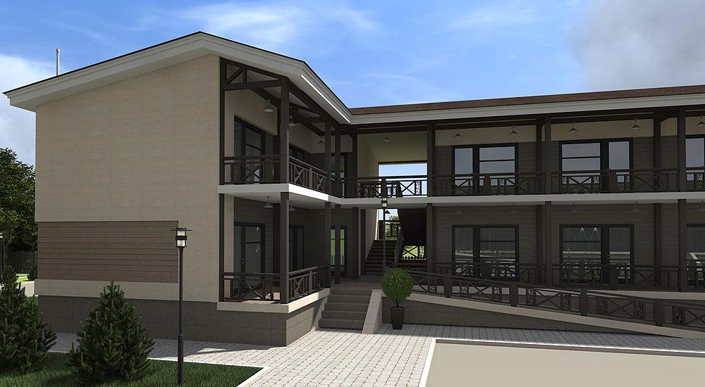 Строительство гостиницы из сип панелей в Одесской области - фото 1