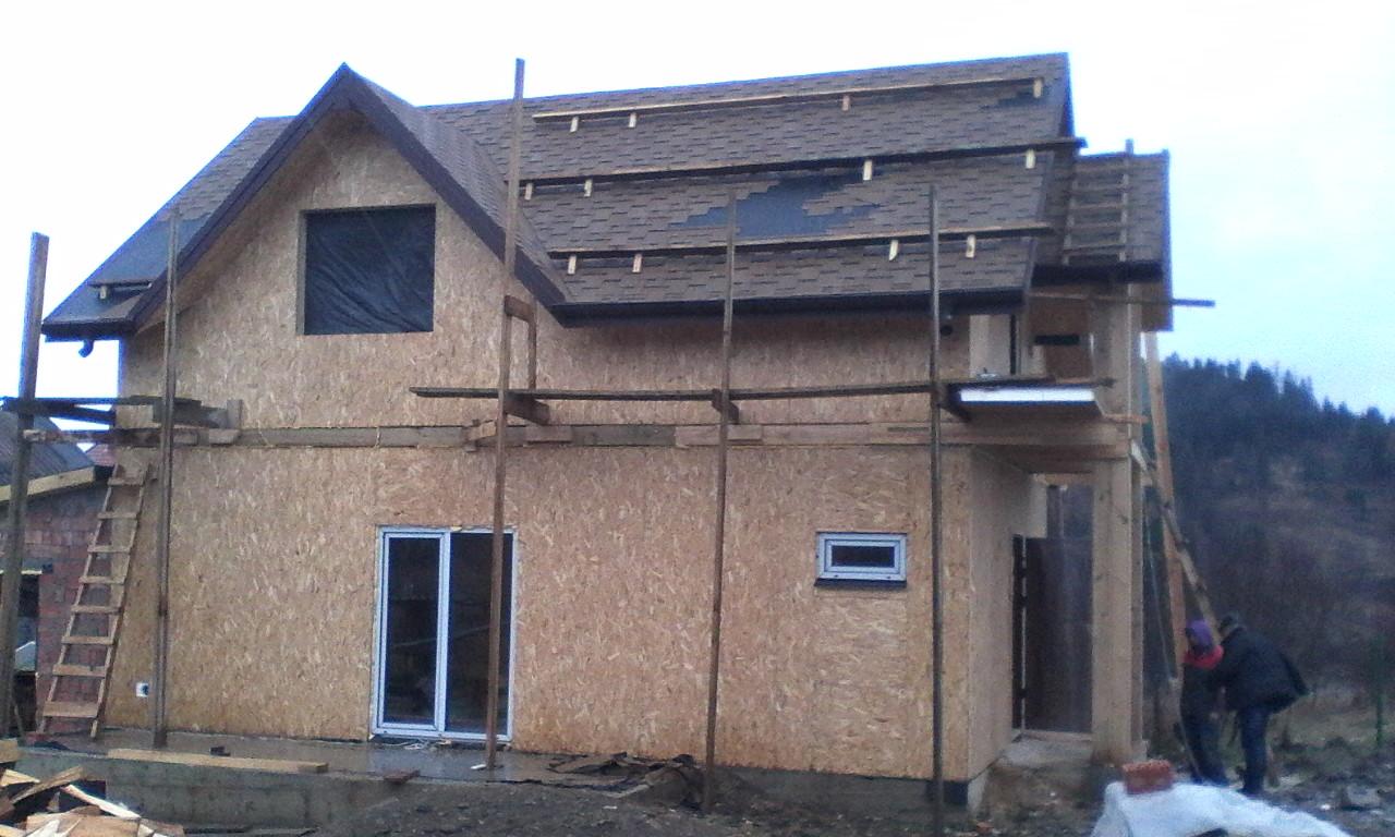 Строительство каркасного дома из СИП/SIP панелей в селе Сходница - фото 1