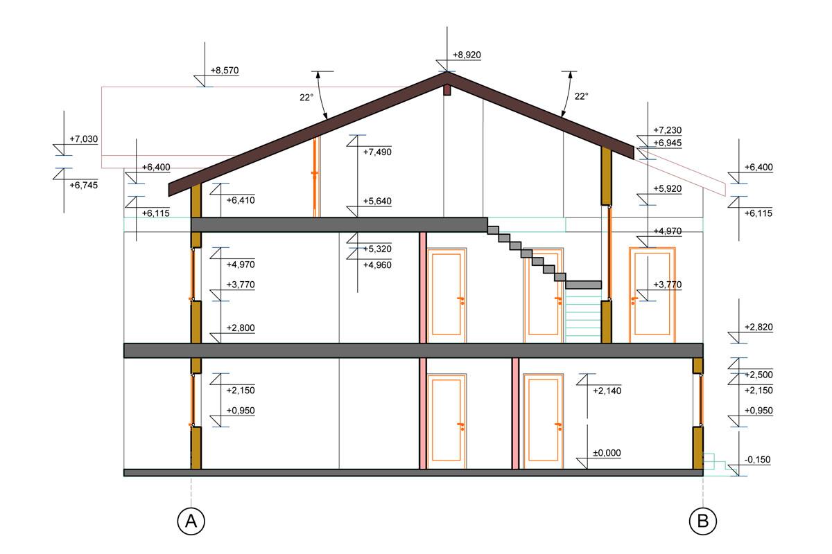План схема жилого дома из сип-панелей в г. Осло, Норвегия - фото 1