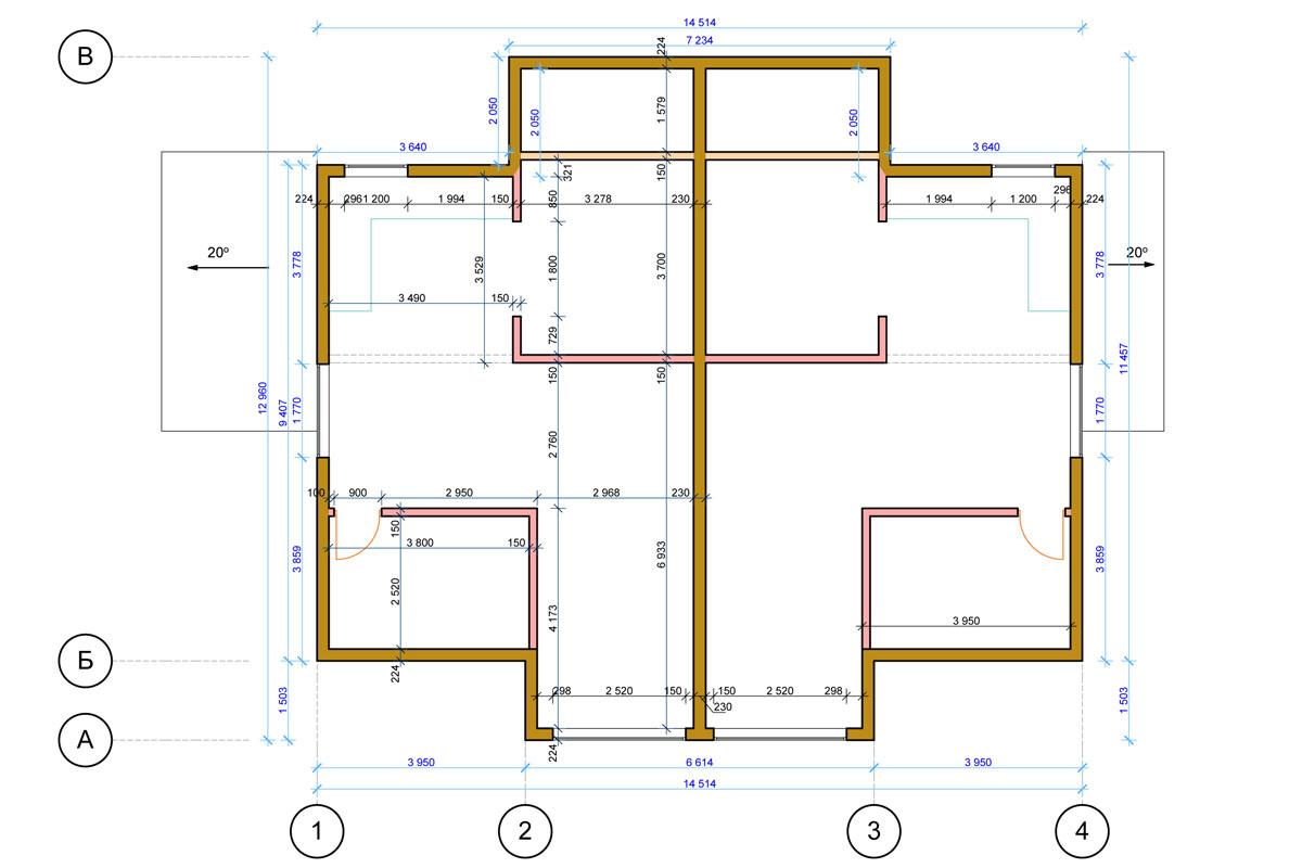 План схема жилого дома из сип-панелей в г. Осло, Норвегия - фото 2
