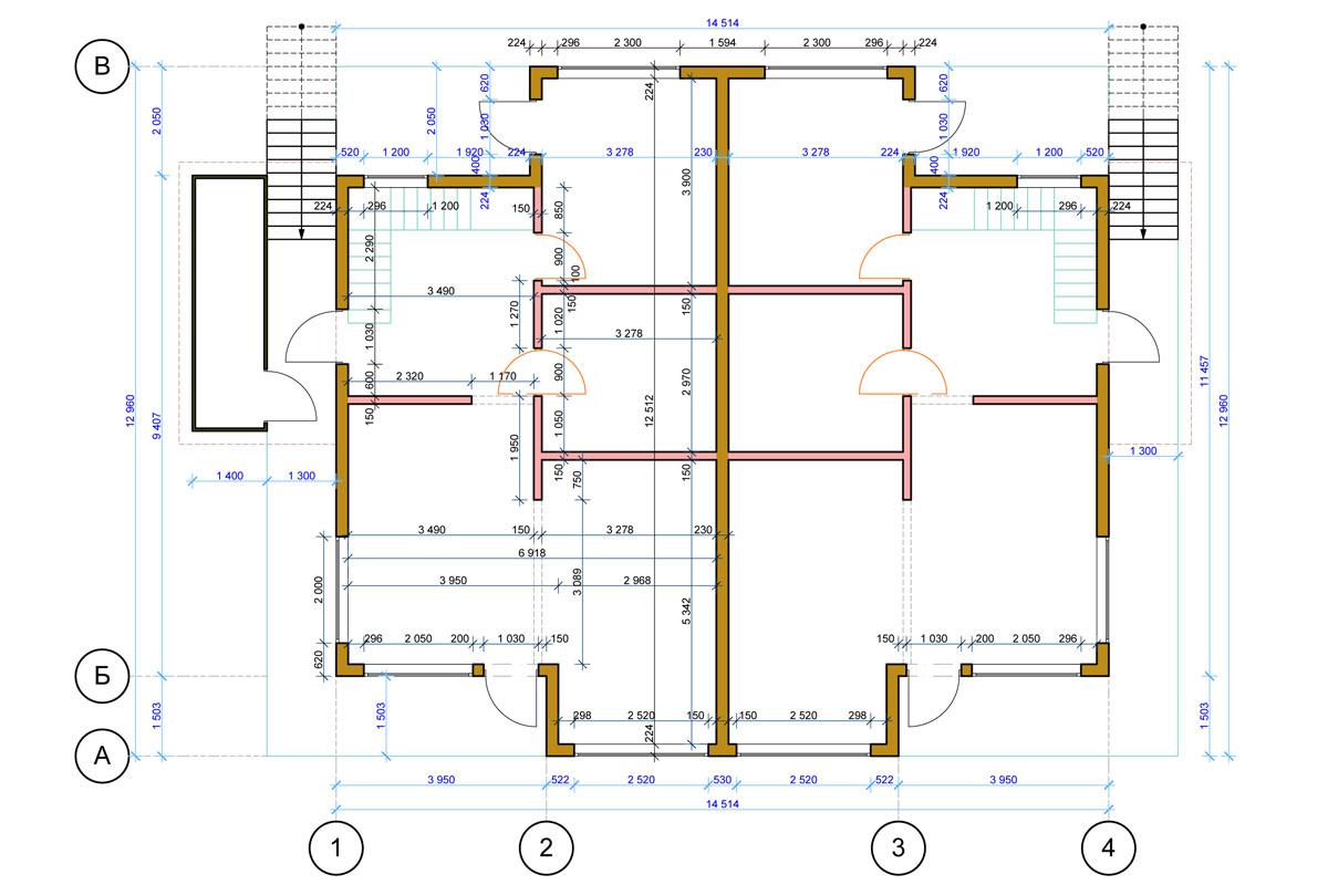План схема жилого дома из сип-панелей в г. Осло, Норвегия - фото 3